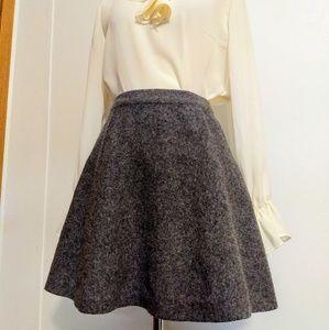 Tahari wool circle skirt